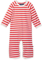 Toobydoo Strawberry Striped Jumpsuit (Baby Girls)