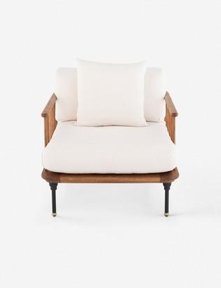 Lulu & Georgia Chambley Accent Chair, Light Oak