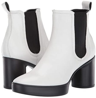 Ecco Shape Sculpted Motion 55 Chelsea Boot (Bright White) Women's Boots