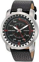 Diesel Men's DZ1750 Rig Stainless Steel Black Leather Watch
