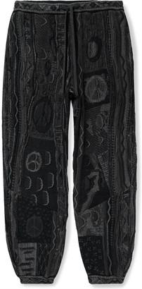 KAPITAL Boro Tapered Cotton-Blend Jacquard Sweatpants - Men - Black