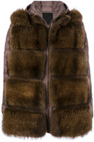 Liska padded fur jacket
