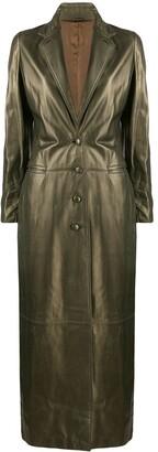 Romeo Gigli Pre-Owned 1990's Metallic Long Coat
