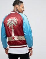 Diesel J-bakery Palm Embriodered Satin Stadium Jacket