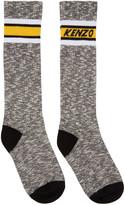 Kenzo Black & White Logo Stripe Socks
