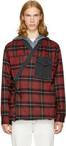 3.1 Phillip Lim Red and Black Plaid Kimono Shirt Jacket