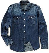 John Varvatos Western Print Long-Sleeve Woven Shirt