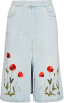 Stella McCartney Janelle embroidered denim skirt