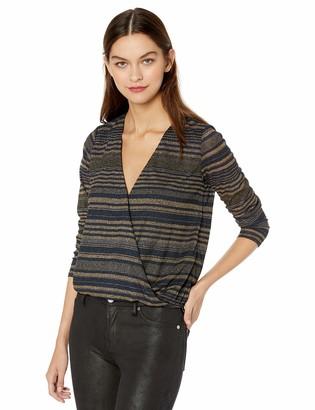 GUESS Women's Long Sleeve Vivienne Stripe Top