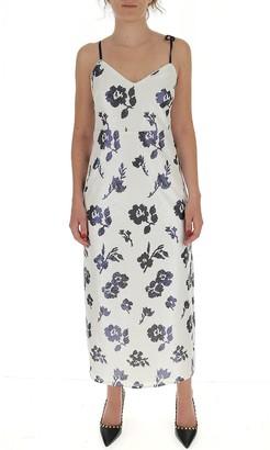 Self-Portrait Floral Sequins Maxi Dress