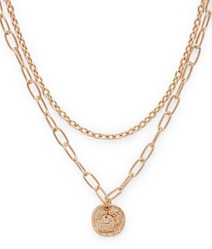 Aqua Two-Layer Coin Pendant Necklace, 19 - 100% Exclusive