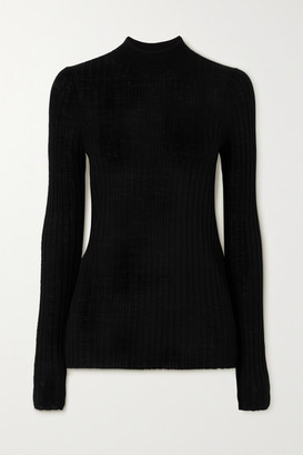 ATM Anthony Thomas Melillo Ribbed Wool Top - Black