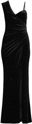 BCBGMAXAZRIA Asymmetric Shoulder Evening Dress