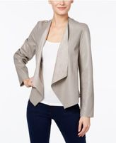 INC International Concepts Petite Lace-Back Faux-Leather Jacket, Only at Macy's