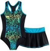 ZeroXposur Girls 7-16 & Plus Size One-Piece With Skirt
