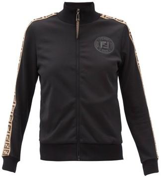Fendi Rama Ff-jacquard Jersey Track Jacket - Black