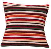 Unique Geometric Wool Striped Cushion Cover, 'Parallel Symphony'