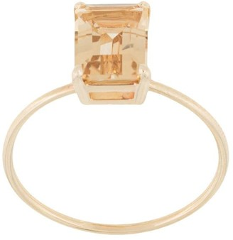 Natalie Marie 9kt yellow gold champagne quartz ring
