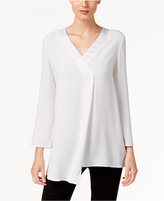 Alfani Asymmetrical Satin-Trim Top, Only at Macy's
