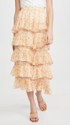 MinkPink Lana Teired Midi Skirt