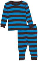 Chocolate & Blue Stripe Pajama Set - Boys