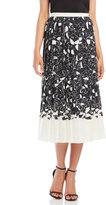 Alysi Printed High-Waist Midi Skirt