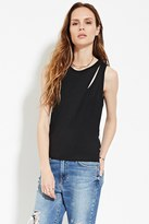 Forever 21 FOREVER 21+ Contemporary Cutout Layered Top