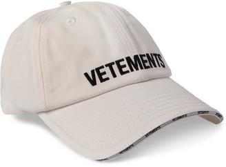 Vetements Logo-Embroidered Cotton-Twill Baseball Cap