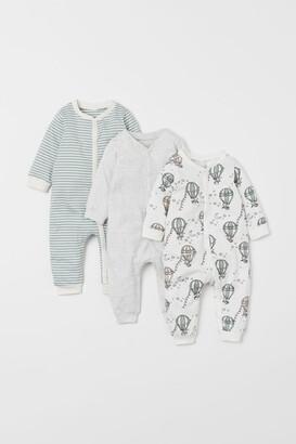 H&M 3-pack Cotton Pajamas - Green