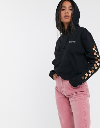 Vans Breast Cancer Awareness cropped hoodie in nude check