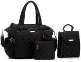 Storksak Infant 'Bobby' Four Piece Diaper Bag - Black
