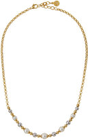 Majorica Callie Beaded Pearl Necklace, Gold/White