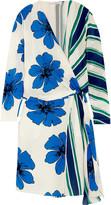 Chloé Printed silk crepe de chine wrap dress