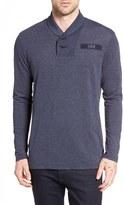 G Star 'Gilik' Shawl Collar Long Sleeve T-Shirt