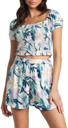 Roxy Summer Breeze Palm Print Shorts