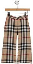 Burberry Girls' Nova Check Flared Pants w/ Tags
