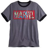 Disney Marvel Comics Logo Ringer Tee for Men