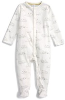 Infant Girl's Mini Boden Lambs Super Soft One-Piece Fitted Pajamas