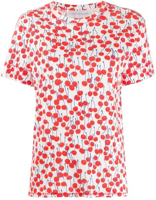 Victoria Victoria Beckham cherry print T-shirt