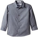 Calvin Klein Kids Long Sleeve Tonality Stripe Shirt (Little Kids)