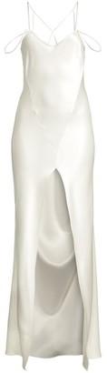 Kiki de Montparnasse Bridal Cage Silk Slip Bias Maxi Dress