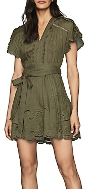 Reiss Gemina Casual Embroidered Mini-Dress