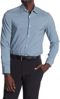 Perry Ellis Long Sleeve Check Printed Dress Shirt
