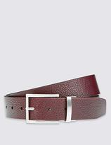 M&S Collection Leather Grain Block Reversible Belt