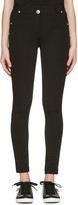 Versus Black Skinny High-rise Trousers