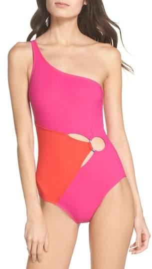 Diane von Furstenberg O-Ring One-Piece Swimsuit