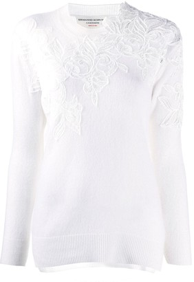 Ermanno Scervino Lace-Detail Jumper