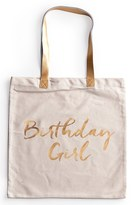 Rosanna 'Birthday Girl' Canvas Tote - White