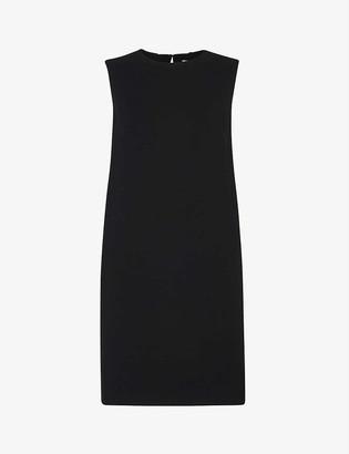 Whistles Sleeveless stretch-crepe mini dress