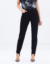 Privilege Ponte Fly Front Slim Leg Pants